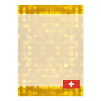 Bandeira suíça oficial convite 12.27 x 17.78cm