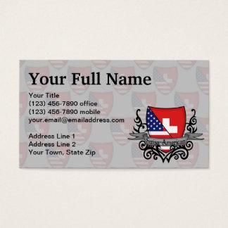 Bandeira Suíço-Americana do protetor Cartão De Visitas