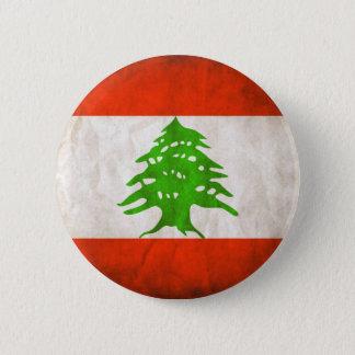 Bandeira suja de Líbano Bóton Redondo 5.08cm