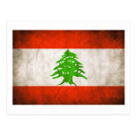 Bandeira suja de Líbano Cartao Postal