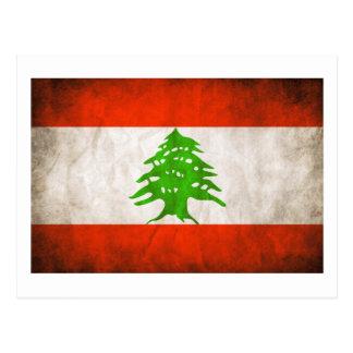 Bandeira suja de Líbano Cartão Postal