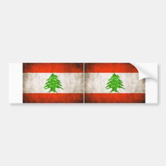 Bandeira suja DOIS Líbano Adesivo