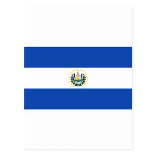 Bandeira SV de El Salvador Cartão Postal