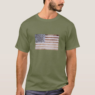 Bandeira Textured mineral dos E.U. Camiseta