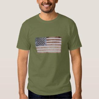 Bandeira Textured mineral dos E.U. Tshirt