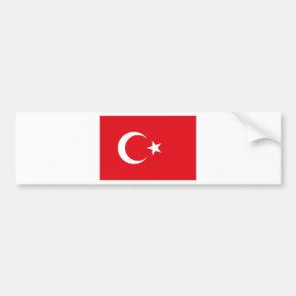 Bandeira turca adesivo para carro