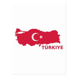 Bandeira Türkiye do mapa de Turquia Cartão Postal