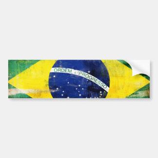Bandeira velha de Brasil Adesivo