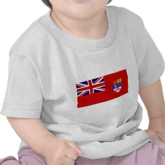 Bandeira vermelha canadense da bandeira tshirts