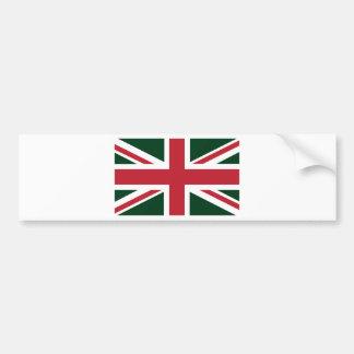 Bandeira vermelha verde escuro legal de Union Jack Adesivo Para Carro