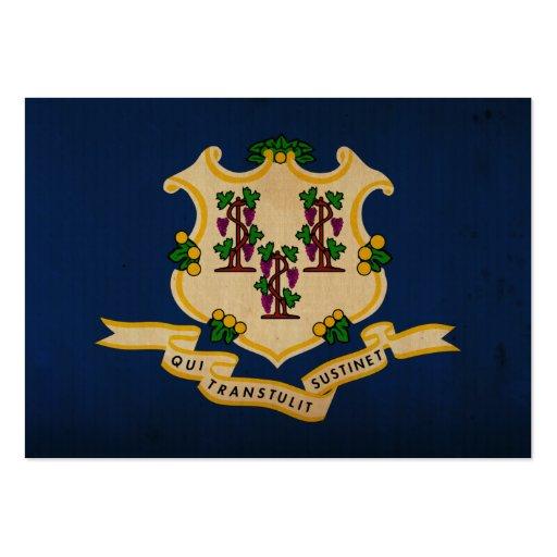 Bandeira VINTAGE.png do estado de Connecticut Cartao De Visita