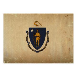 Bandeira VINTAGE.png do estado de Massachusetts Cartão De Visita