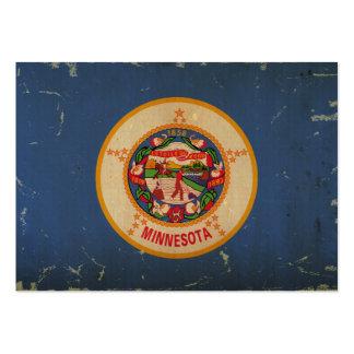 Bandeira VINTAGE.png do estado de Minnesota Modelos Cartões De Visita