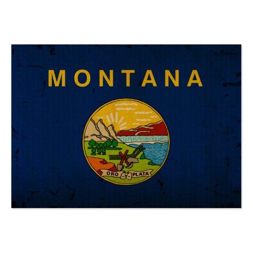 Bandeira VINTAGE.png do estado de Montana Cartoes De Visitas