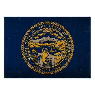 Bandeira VINTAGE.png do estado de Nebraska Cartões De Visita
