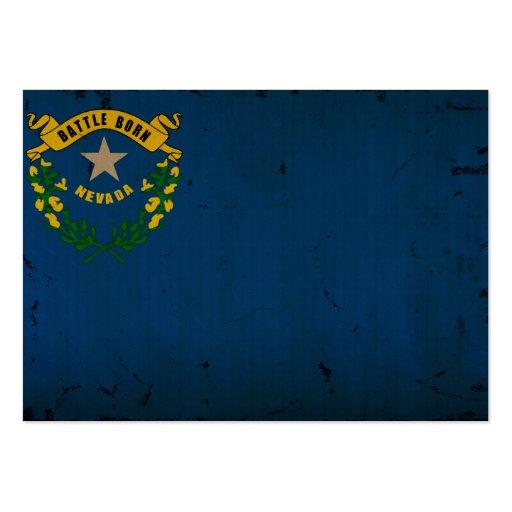Bandeira VINTAGE.png do estado de Nevada Modelos Cartoes De Visitas