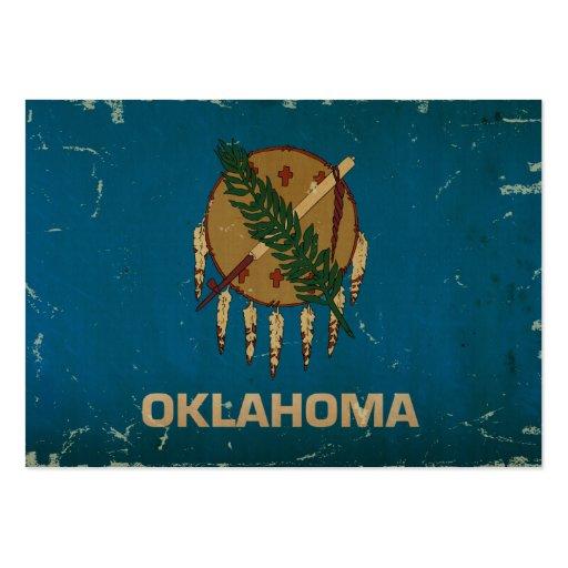 Bandeira VINTAGE.png do estado de Oklahoma Cartoes De Visitas
