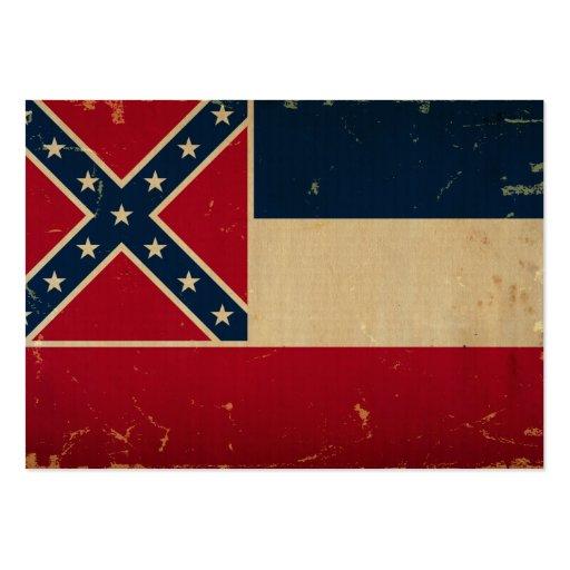 Bandeira VINTATE.png do estado de Mississippi Modelos Cartoes De Visita