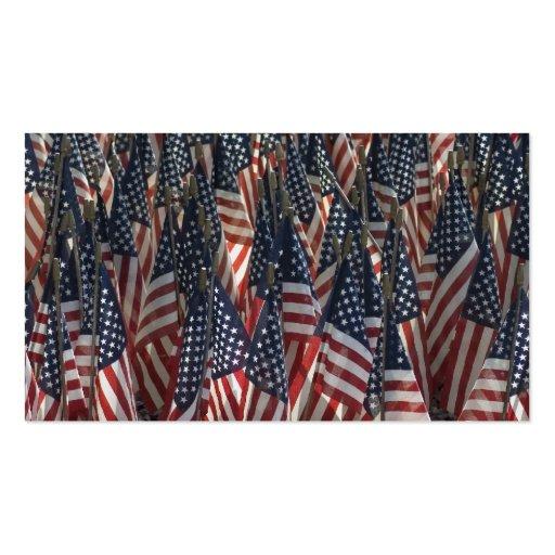Bandeiras americanas cartoes de visita