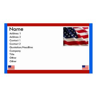 Bandeiras americanas cartão de visita