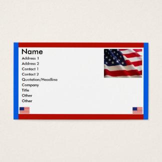 Bandeiras americanas cartão de visitas