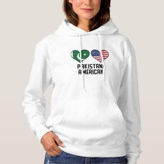 Bandeiras americanas paquistanesas do coração moletom