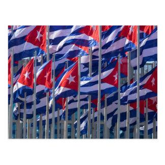 Bandeiras cubanas, Havana, Cuba Cartão Postal