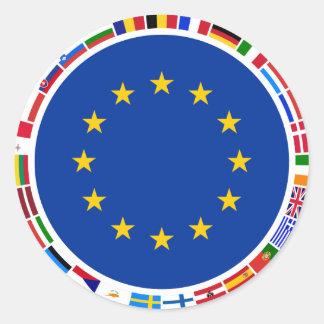 Bandeiras da União Europeia Adesivos Em Formato Redondos