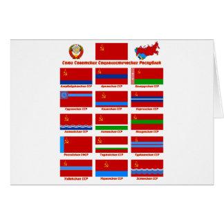 Bandeiras da URSS Cartão Comemorativo