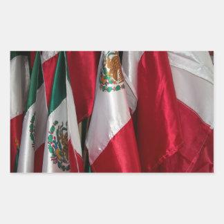 Bandeiras de México Adesivo Retangular
