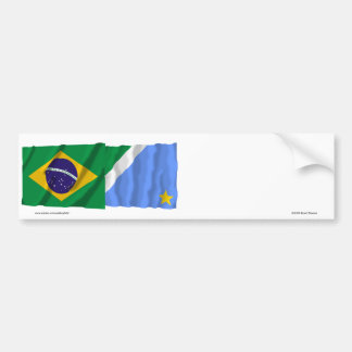 Bandeiras de ondulação de Mato Grosso do Sul & de Adesivo Para Carro