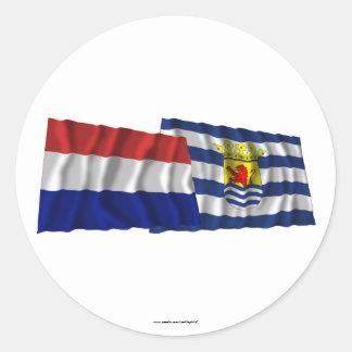 Bandeiras de ondulação de Países Baixos & de Adesivo