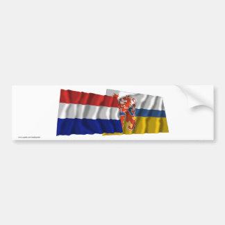 Bandeiras de ondulação de Países Baixos & de Limbu Adesivo Para Carro