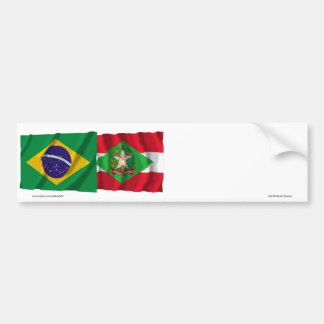Bandeiras de ondulação de Santa Catarina & de Adesivo Para Carro