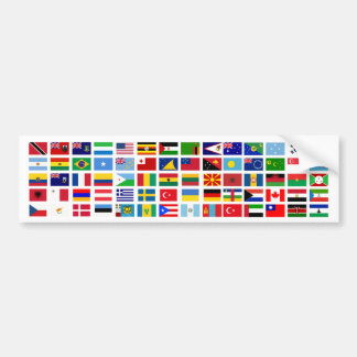bandeiras do mundo contra o branco adesivo para carro