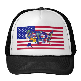 Bandeiras dos EUA Boné