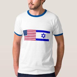 Bandeiras dos EUA e da Israel Camiseta