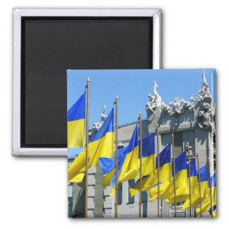 Bandeiras ucranianas imã
