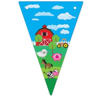Bandeirinha Animal do Barnyard - fazenda - aniversário - chá