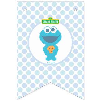 Bandeirinha Aniversário do bebê do monstro | do biscoito o