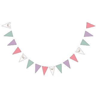 Bandeirinha Antlers & decoração cor-de-rosa do aniversário da