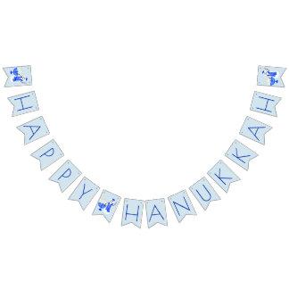 Bandeirinha Boneco de neve Hanukkah feliz ou Chanukah de