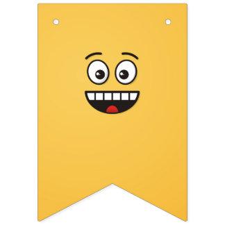 Bandeirinha Cara de sorriso com boca aberta