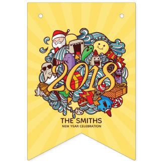 Bandeirinha Celebração bonito do partido da família do ano