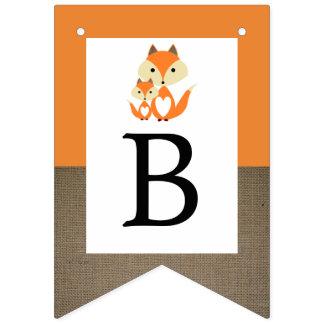 Bandeirinha Chá de fraldas alaranjado de serapilheira do Fox