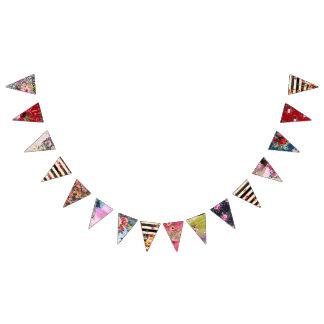 Bandeirinha Cigano, estilo do boho, cores múltiplas e design