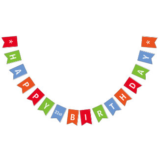 Bandeirinha Colorido do feliz aniversario personalizado