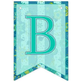Bandeirinha É um menino! O elefante floresce Swallowtail