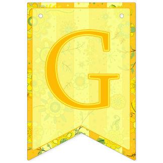 Bandeirinha É uma menina! O elefante floresce o amarelo