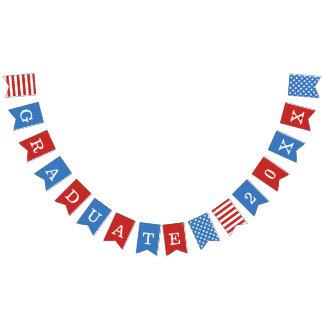 Bandeirinha Estrelas & formando branco vermelho do azul das